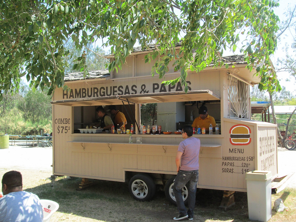 Hamburger Stand at Parque Morelos
