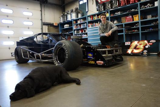 Man + Dog + Car