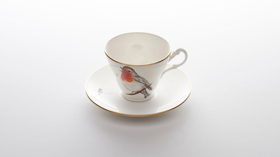 Robin Tea cup and Saucer
