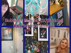 Bobbett's Blog No 110 Striking Gold interior accents and a Happy Easter.