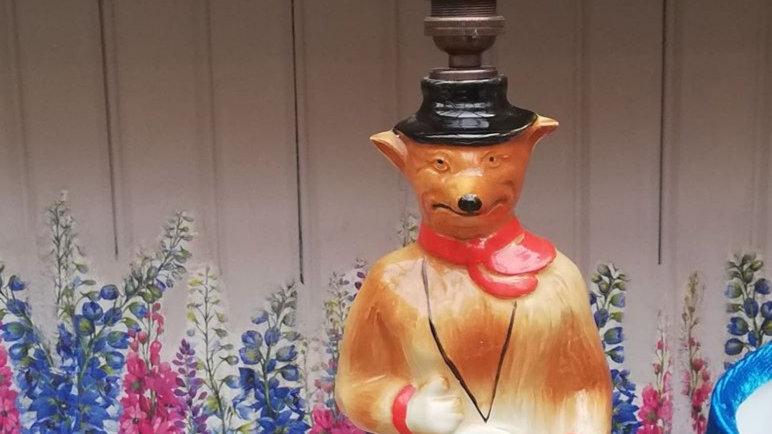 ltd edition ceramic jim beam fox lamp