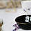 Thumbnail: Ceramic dessert bowl sweet pea side detail