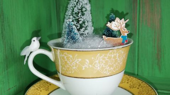 Christmas in a tea cup