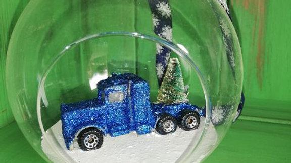 Big Blue Glitter Truck