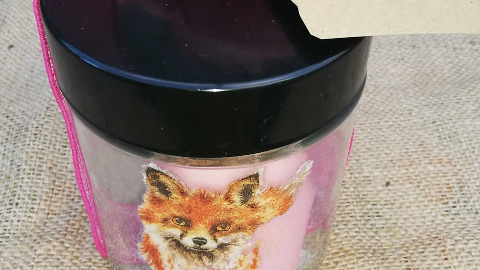 Fox jar candle