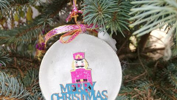 Single teacup Nutcracker tree decoration