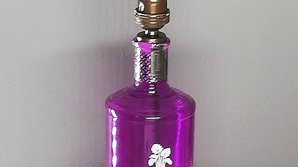 Whitley Neill purple bottle gin lamp