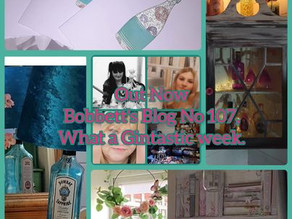 Bobbett's Blog No 107, What a Gintastic week, upcycling, interior design and paper craft.