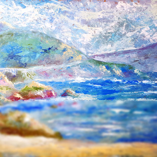 Big Sur Painting California Original Art Mountain Seascape Wall Art