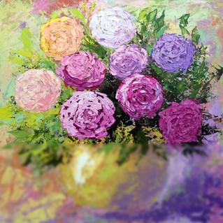 Rose Painting Impasto Flower Original Art Floral Above Sofa Art