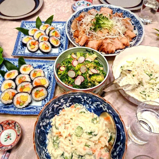 Home Party menu of Japanese dishes