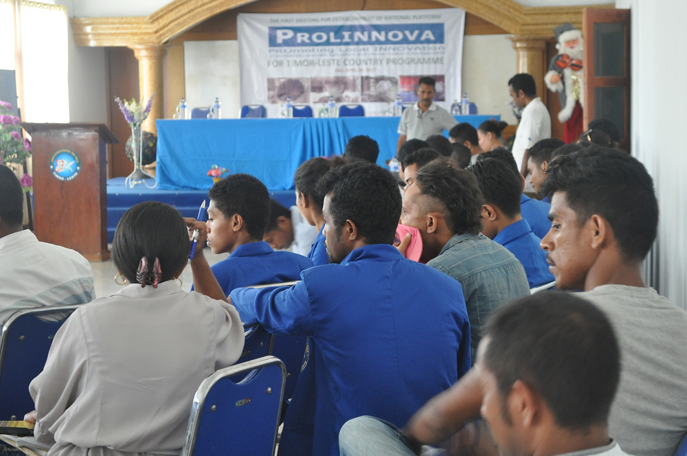 Students from Universidade da Paz in the audience at the Prolinnova Timor-Leste launch in Dili on 27 April 2017