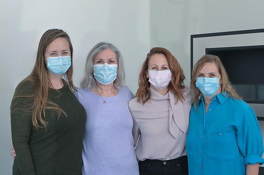 DSW team wearing medical masks