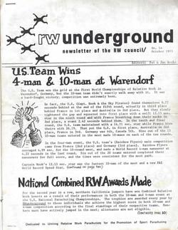 RW underground Newsletter of the RW Coun