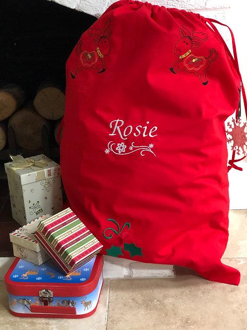 Large Red 'Rosie' Santa Sack