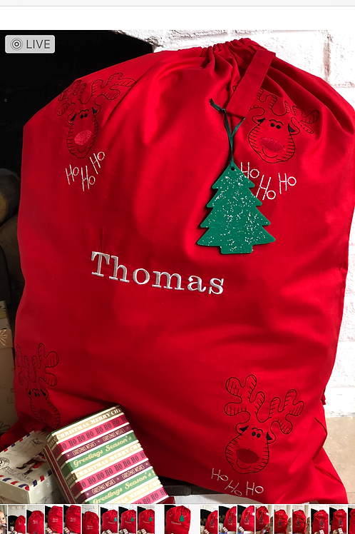 Red 'Thomas' Santa Sack