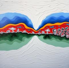 8_Desesperanca Acrilica e textura_100 x