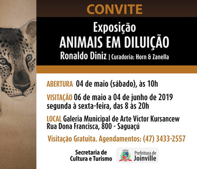 """EXPOSIÇÃO """"Animais em Diluição"""" 04/05"""