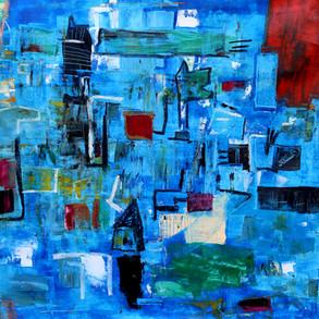 Cidade Azul, 2020 100x100cm