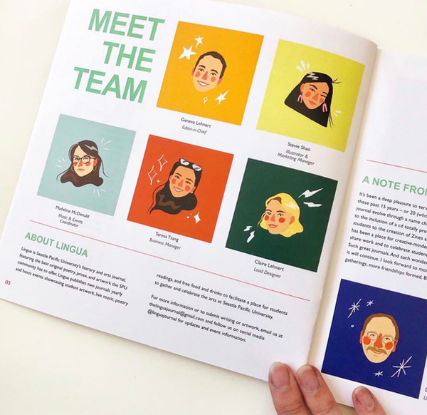 Staff page layout illustrations