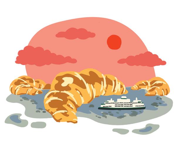 Saboteur Bakery Illustration for The Stranger