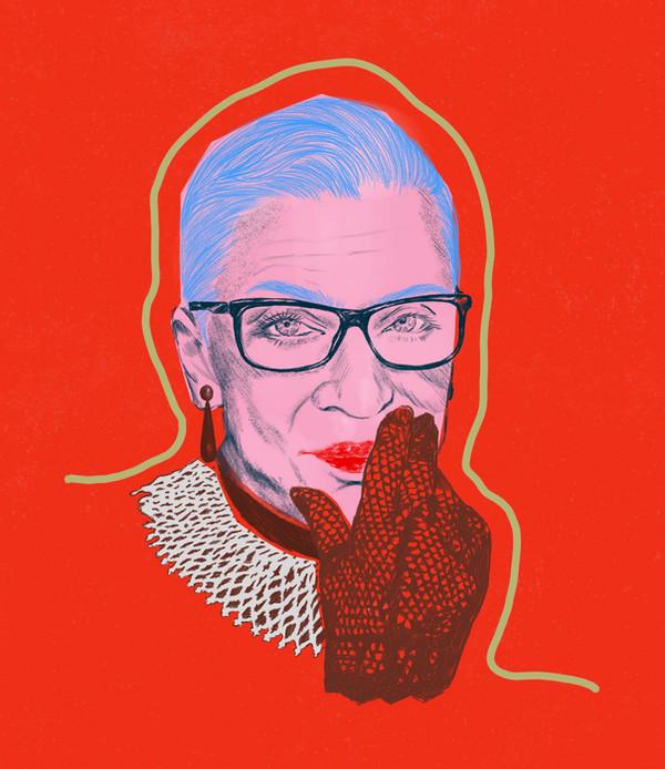 Ruth Bader Ginsburg portrait