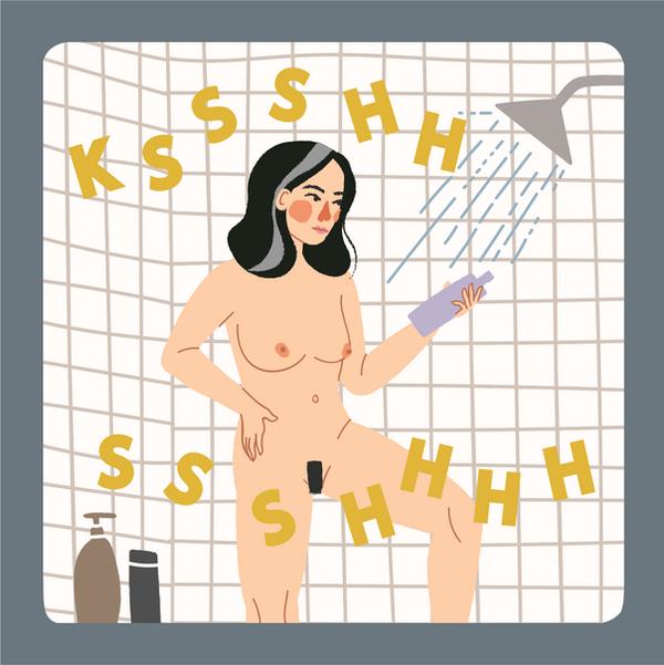 Purple shampoo comic