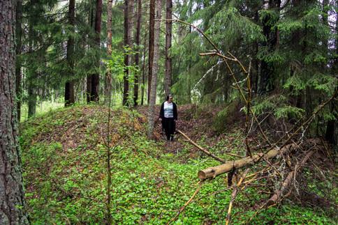 Rundhaug yngre jernalder. Foto: Eldengaard
