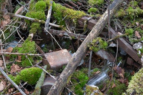 Søppel i gravminne. Jernalder. Foto: Eldengaard