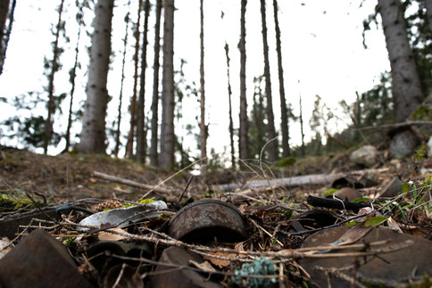 Rundhaug jernalder. Søppeldeponi. Foto: Eldengaard