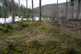 Slik ser en langgrav ut ett år etter restaurering. Her hadde et rotveltet tre revet istykker graven.