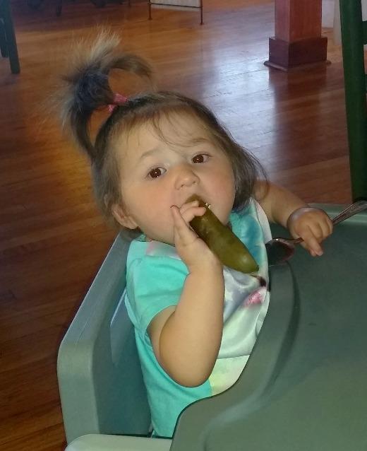 Babies love pickles