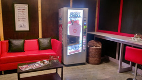 A new Nutrichill protein enriched quinzee installed in a virtual cycling gym in Miami, FL
