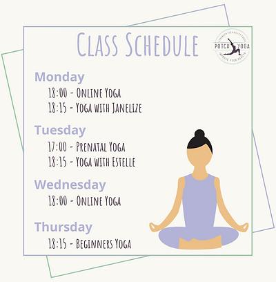 Studio and online class schedule 2020.pn