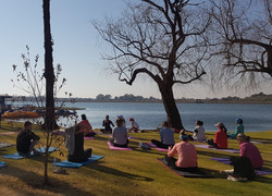Yoga at Potch dam