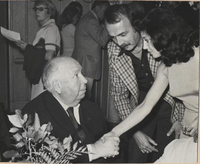 Irene meeting Alfred Hitchcock