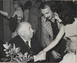 Irene meeting Alfred Hitchcock