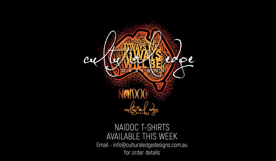 NAIDOC 2020 T-SHIRTS AVAILABLE THIS WEEK