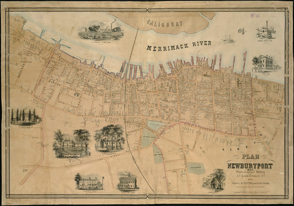 Plan of Newburyport from 1851
