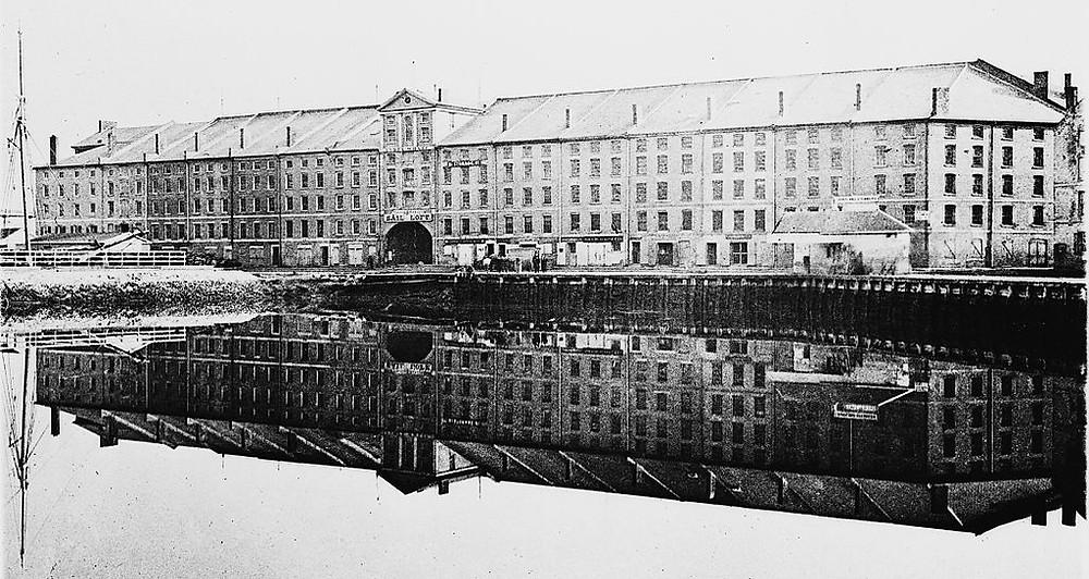 India Wharf, Boston, 19th century