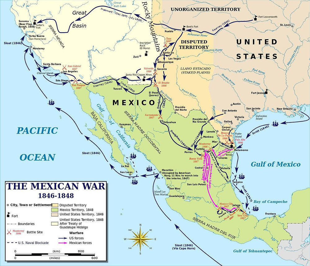 Mexican American War Map