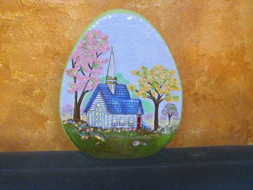 Med. Egg with scene