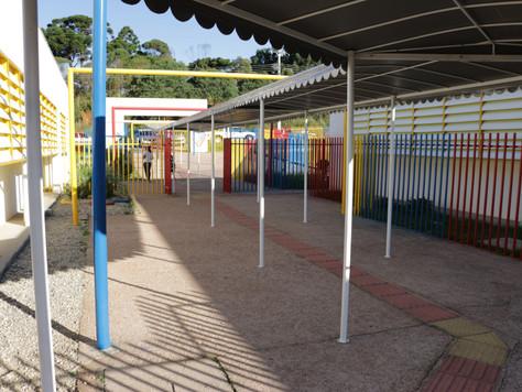 Quitandinha investe na instalação de toldos em todas as escolas e creches do município