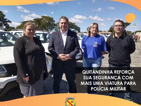 Quitandinha reforça sua segurança com mais uma viatura