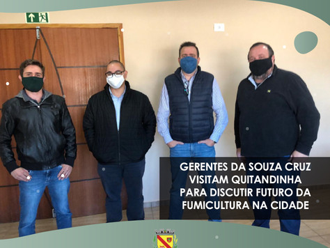 Gerentes da Souza Cruz visitam Quitandinha para discutir futuro da fumicultura