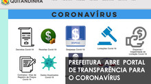 Prefeitura abre Portal de Transparência para o Coronavírus