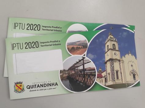 Carnês de IPTU de 2020 já estão disponíveis na Prefeitura de Quitandinha