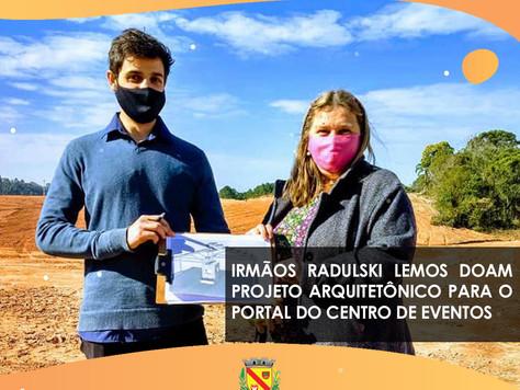 Irmãos Radulski Lemos doam projeto arquitetônico para o Portal do Centro de Eventos