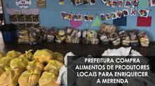 Prefeitura compra alimentos de produtores locais para enriquecer a merenda na crise
