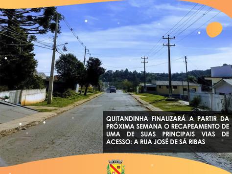 Prefeitura finalizará o recapeamento da José de Sá Ribas na próxima semana